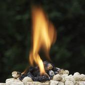 Värmepellets som brinner