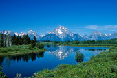 Oxbow bend vid the Grand Tetons, USA