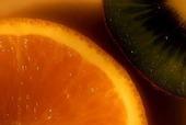 Apelsin och kiwi