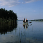 Kanot i insjö