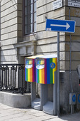 Postlådor vid Skeppsbron i Stockholm
