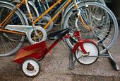 Cyklar i cykelställ