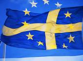 Svenska och EU-flaggan