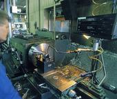 Metallarbetare vid svarv