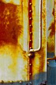 Rostade metallplattan. Gold Coast Railroad Museum.Miami. Florida. USA