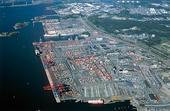 Flygbild över Skandiahamnen,  Göteborg