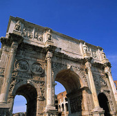 Konstantins båge i Rom, Italien