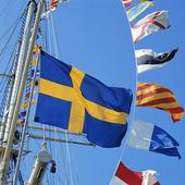Svenska Flaggan med flaggspel