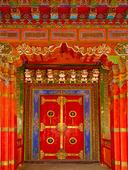 Dörr i Tibetiskt Templel, Kina