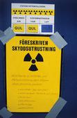 Skylt i kärnkraftverk