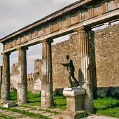 Tempelruin i Pompeji, Italien