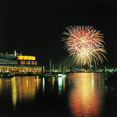 Fyrverkeri i Göteborgs hamn