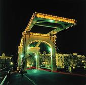 Lean Bridge in Amsterdam, Netherlands