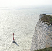 Fyr vid Beachy head, England