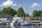 Hjo marina i Västergötland