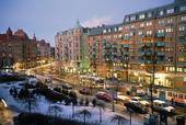 Vinter på  Linnégatan, Göteborg
