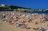 Beach. Luanco, Spanien