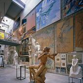 Interiör Skissernas museum i Lund, Skåne