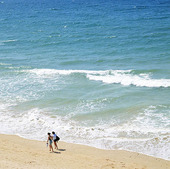Turister vid Algarvekusten, Portugal