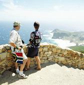 Turister vid Godahoppsudden, Sydafrika