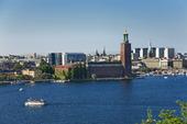 Vy över Stockholm från Skinnaviksberget