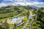Utsikt över en bergsresort i Filippinerna