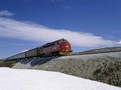 Tåg vid polcirkeln, Norge