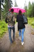Par i regnväder