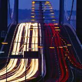 Kvällstrafik över Älvsborgsbron, Göteborg