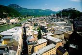 Vy över Salzburg, Österrike