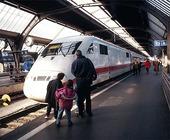 Tågstation i Basel, Schweiz