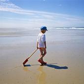 Pojke på strand