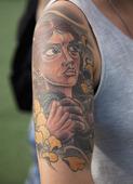 Tatuering på arm