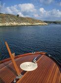 Fördäck på båt