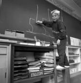 Pojke i klassrum