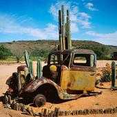 Bilvrak i Namibiaöknen