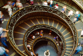 Trappa i Vatikanmuséet i Rom, Italien