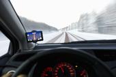 Bilkörning på vinterväg