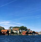 Kustbebyggelse på Fläskö, Bohuslän