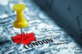 Häftstift på London, Storbritannien