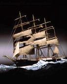 Båtmodell av segelfartyg