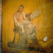 Väggmålning i Pompeji, Italien