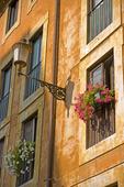 Gammal husvägg i Rom