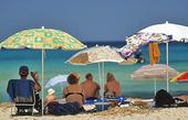 Solsemester på strand