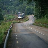 X2000 tåg vi landsväg