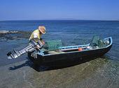 Fiskare med båt, Irland