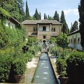 Generalife i Granada, Spanien