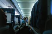 Passagerare i flygplan