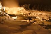 Tännforsen i vinterskrud, Jämtland