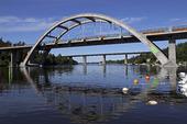 Stäketbroarna över Stäketsundet, Järfälla